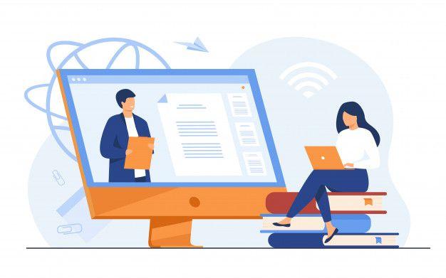 female-student-listening-webinar-online